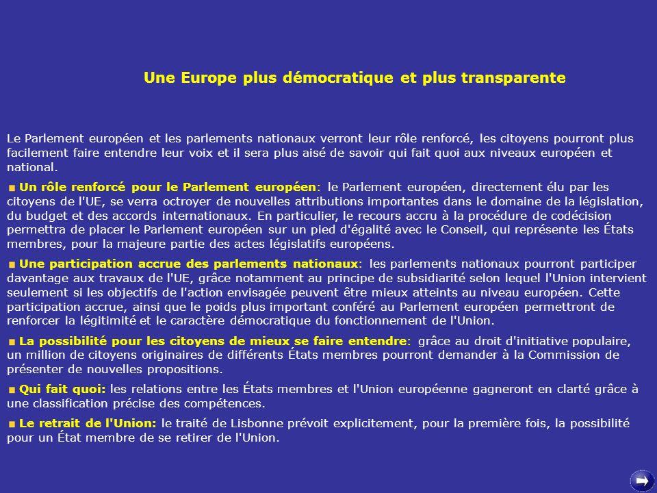 Une Europe plus démocratique et plus transparente