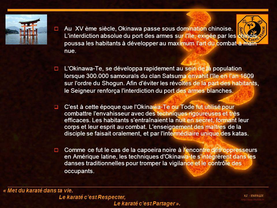 Au XV ème siècle, Okinawa passe sous domination chinoise