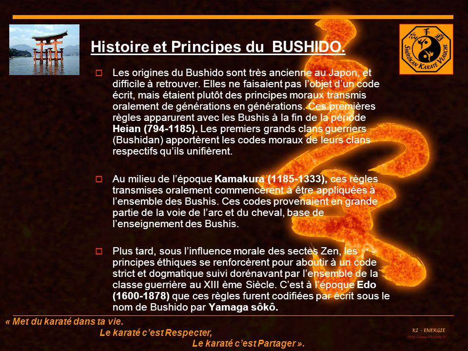 Histoire et Principes du BUSHIDO.