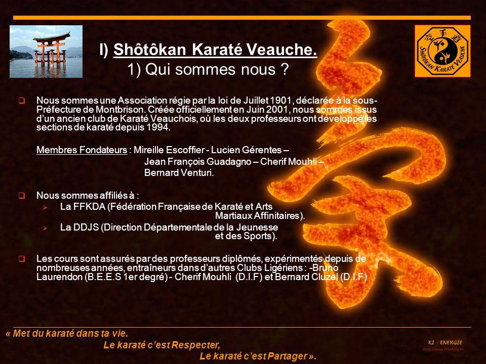 I) Shôtôkan Karaté Veauche. 1) Qui sommes nous