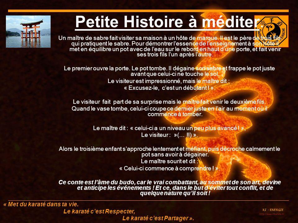 Petite Histoire à méditer.