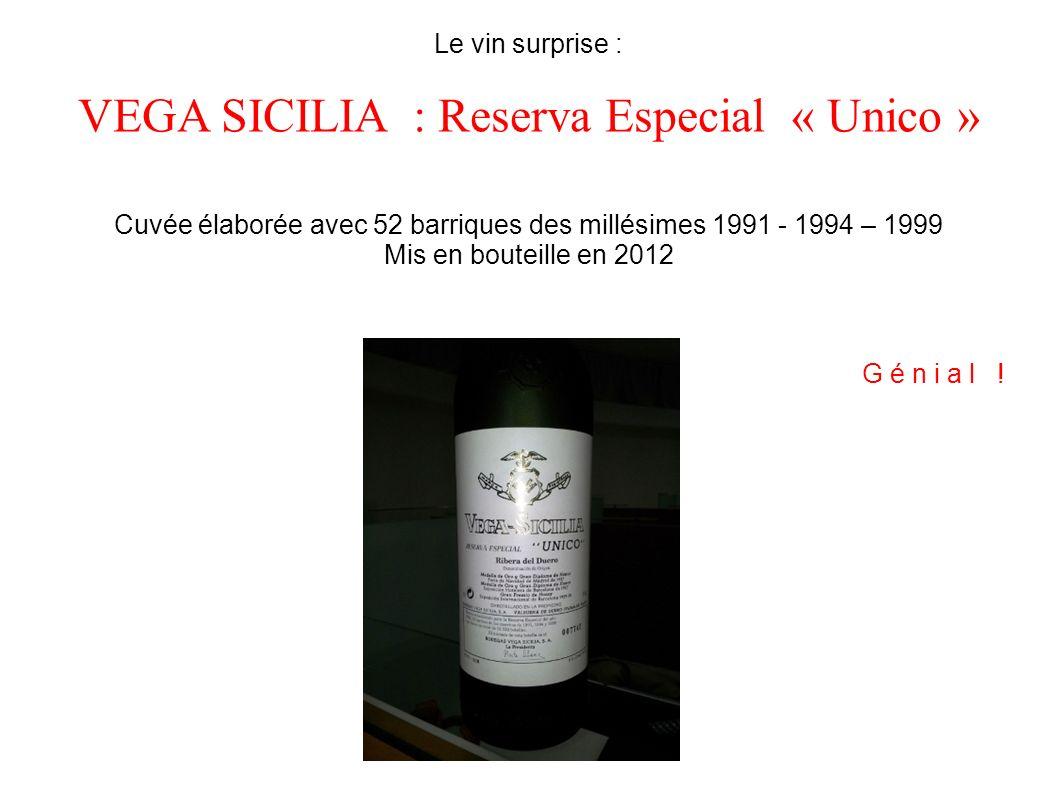 VEGA SICILIA : Reserva Especial « Unico »