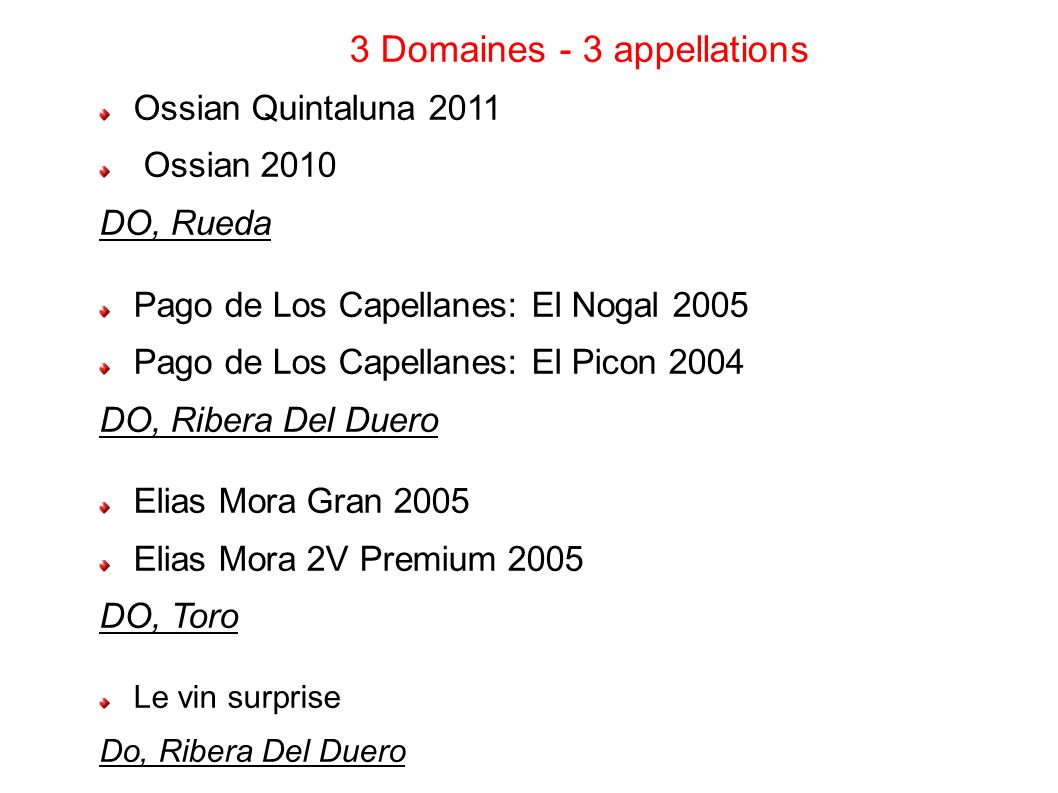 3 Domaines - 3 appellations