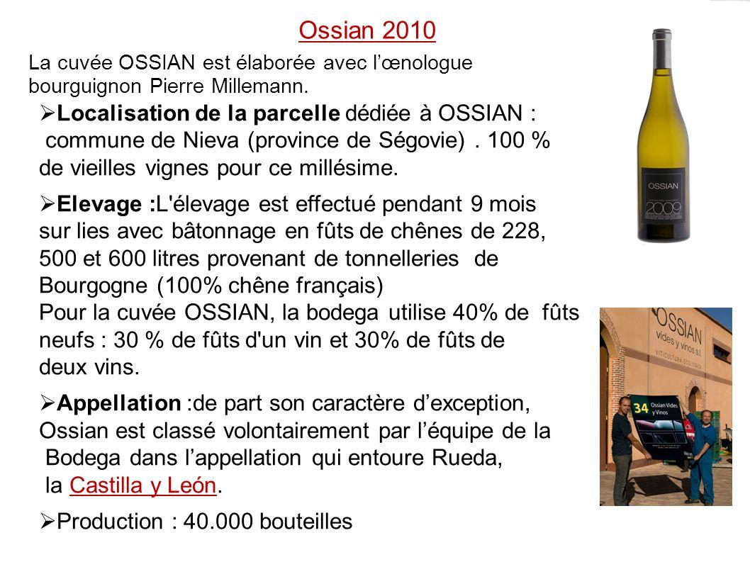 Ossian 2010 Localisation de la parcelle dédiée à OSSIAN :