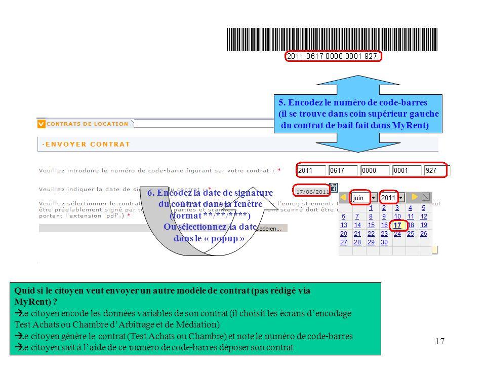 5. Encodez le numéro de code-barres