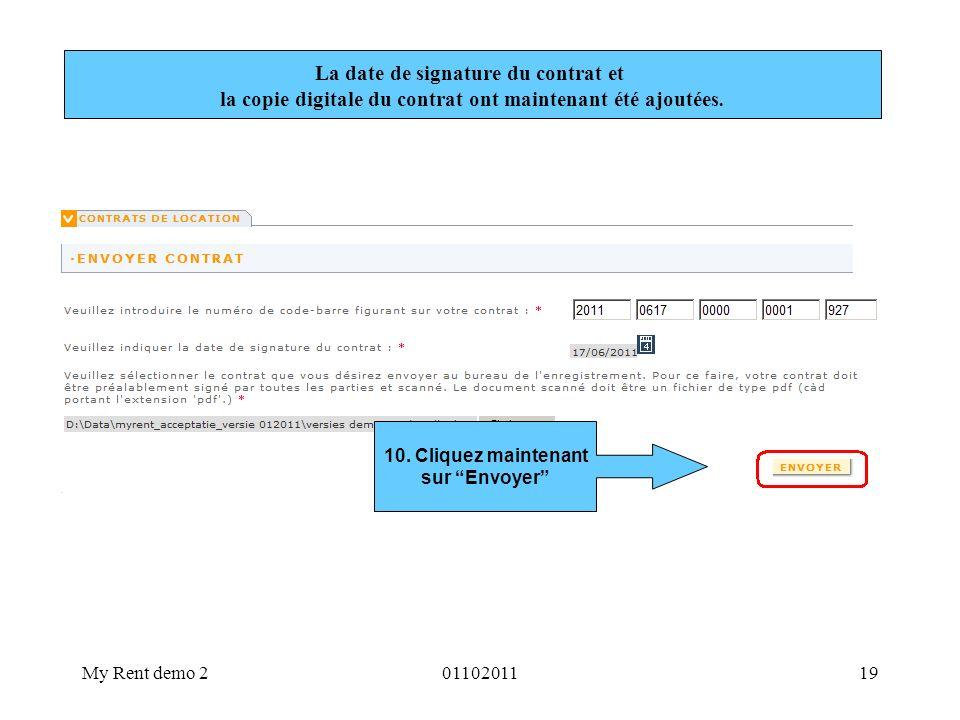 La date de signature du contrat et