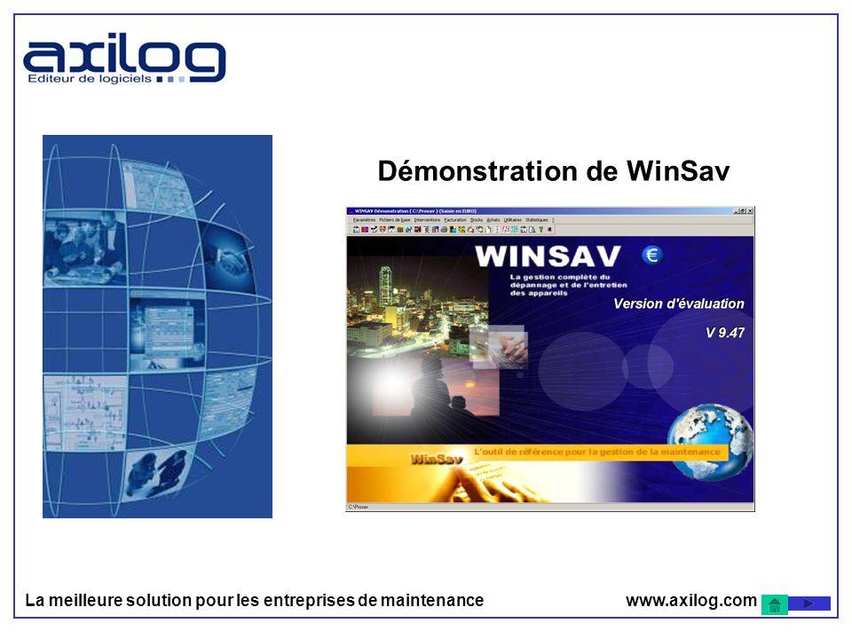 Démonstration de WinSav