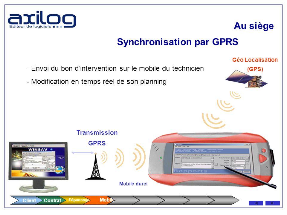 Synchronisation par GPRS