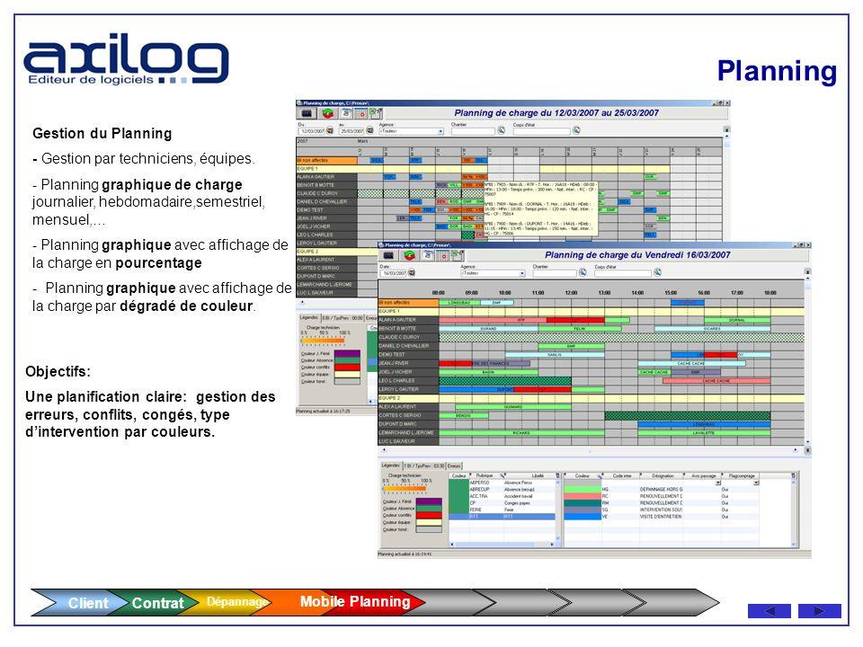 Planning Client Gestion du Planning