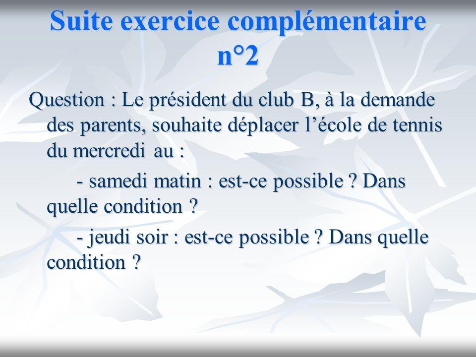 Suite exercice complémentaire n°2