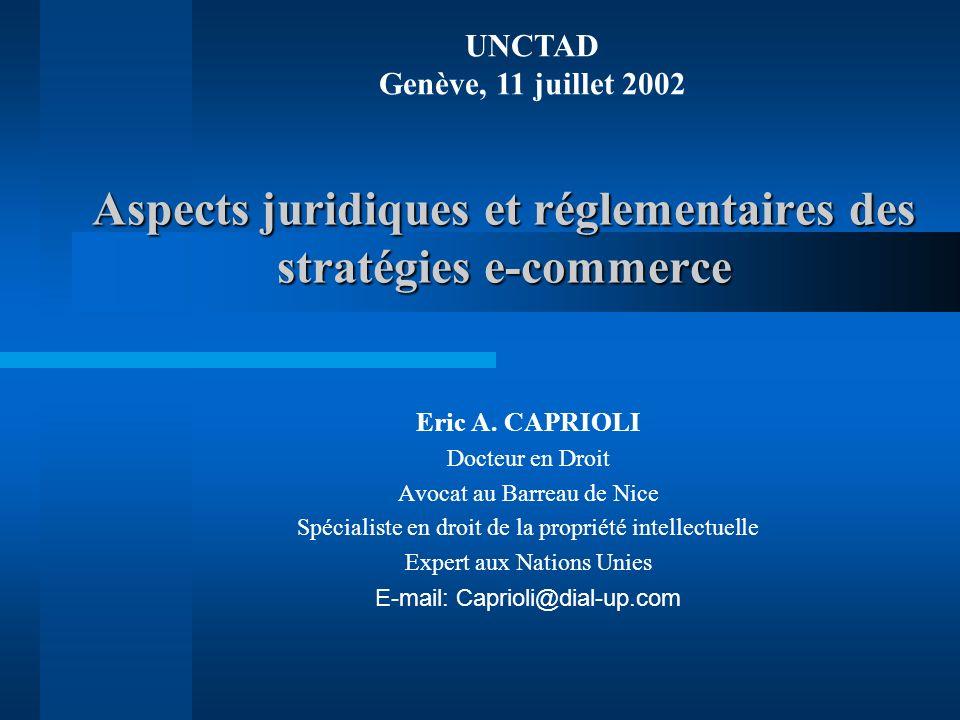 Aspects juridiques et réglementaires des stratégies e-commerce