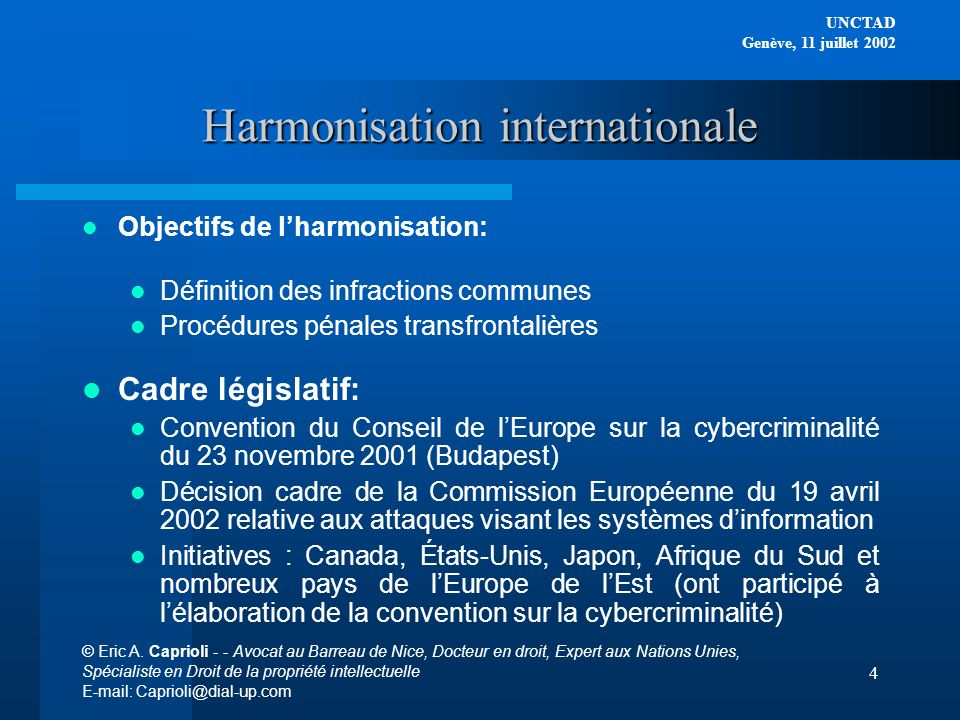Harmonisation internationale