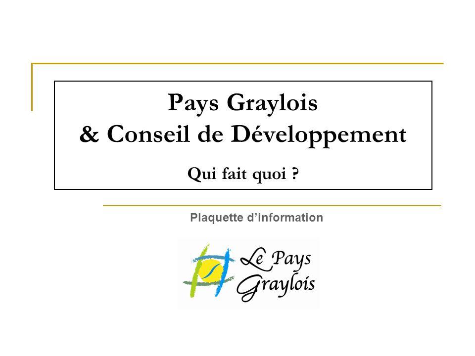 Pays Graylois & Conseil de Développement Qui fait quoi