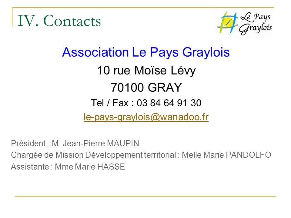 Association Le Pays Graylois