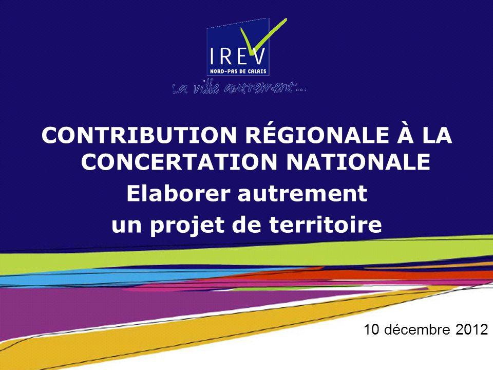 Contribution régionale à la concertation nationale