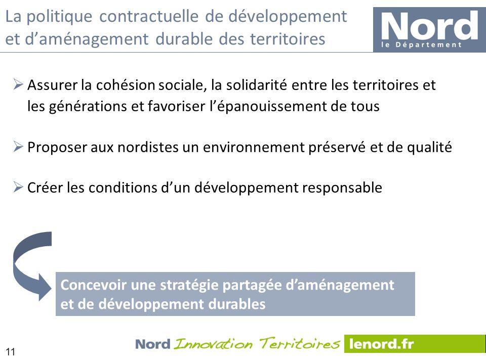 La politique contractuelle de développement et d'aménagement durable des territoires