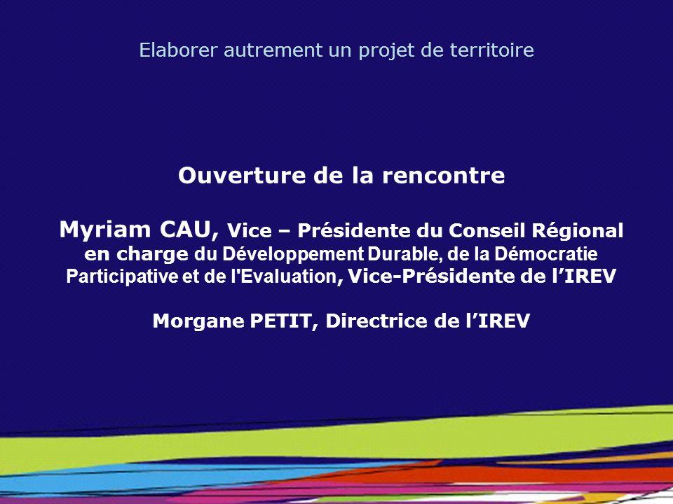Ouverture de la rencontre Morgane PETIT, Directrice de l'IREV