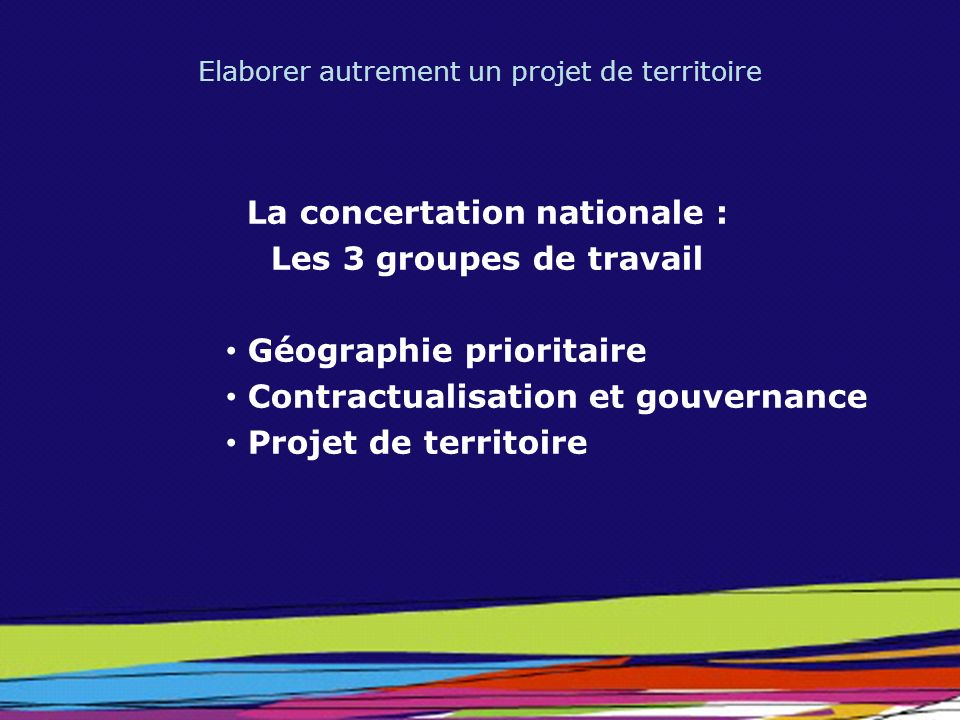 La concertation nationale :