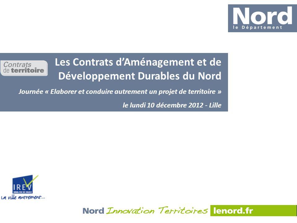 Les Contrats d'Aménagement et de Développement Durables du Nord