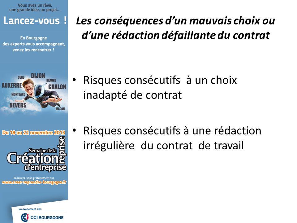Risques consécutifs à un choix inadapté de contrat