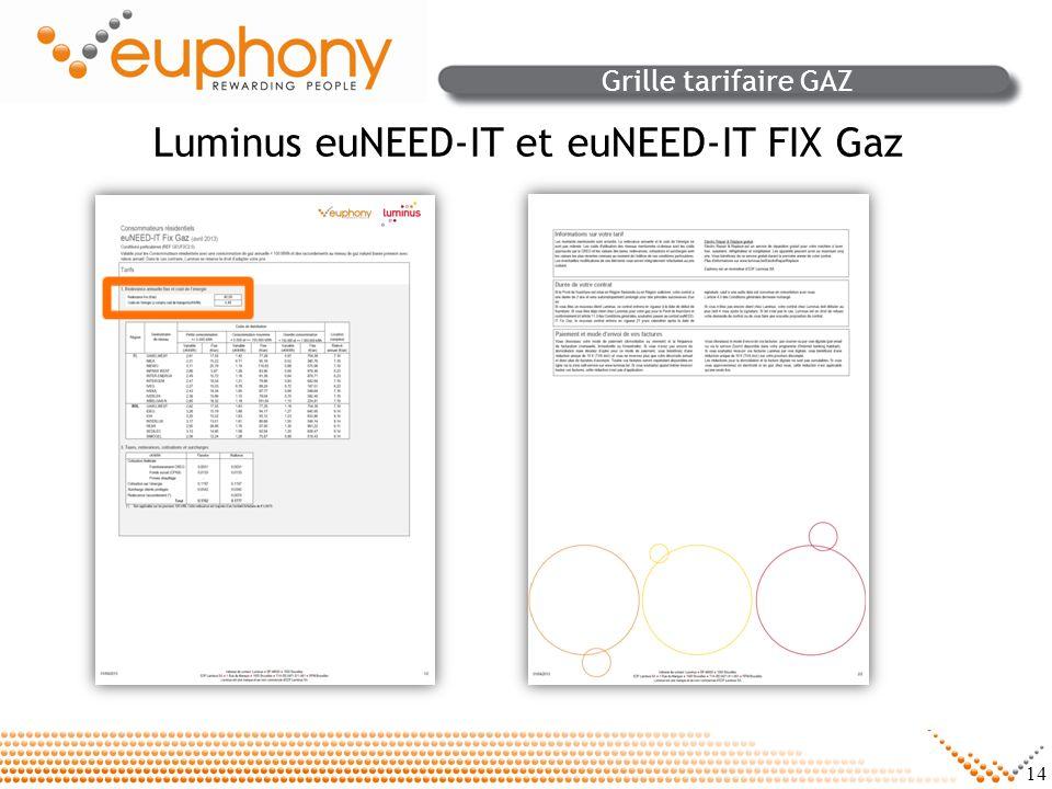 Luminus euNEED-IT et euNEED-IT FIX Gaz