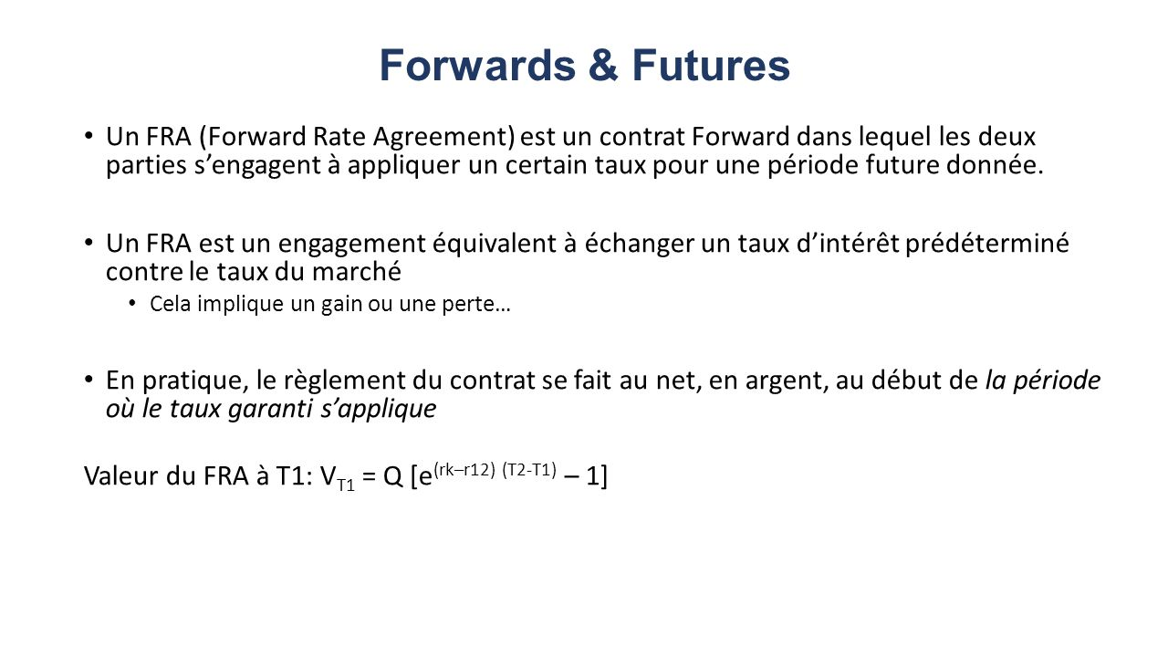 Forwards & Futures