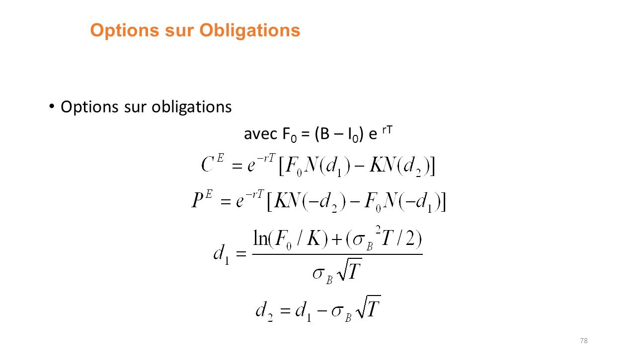 Options sur Obligations