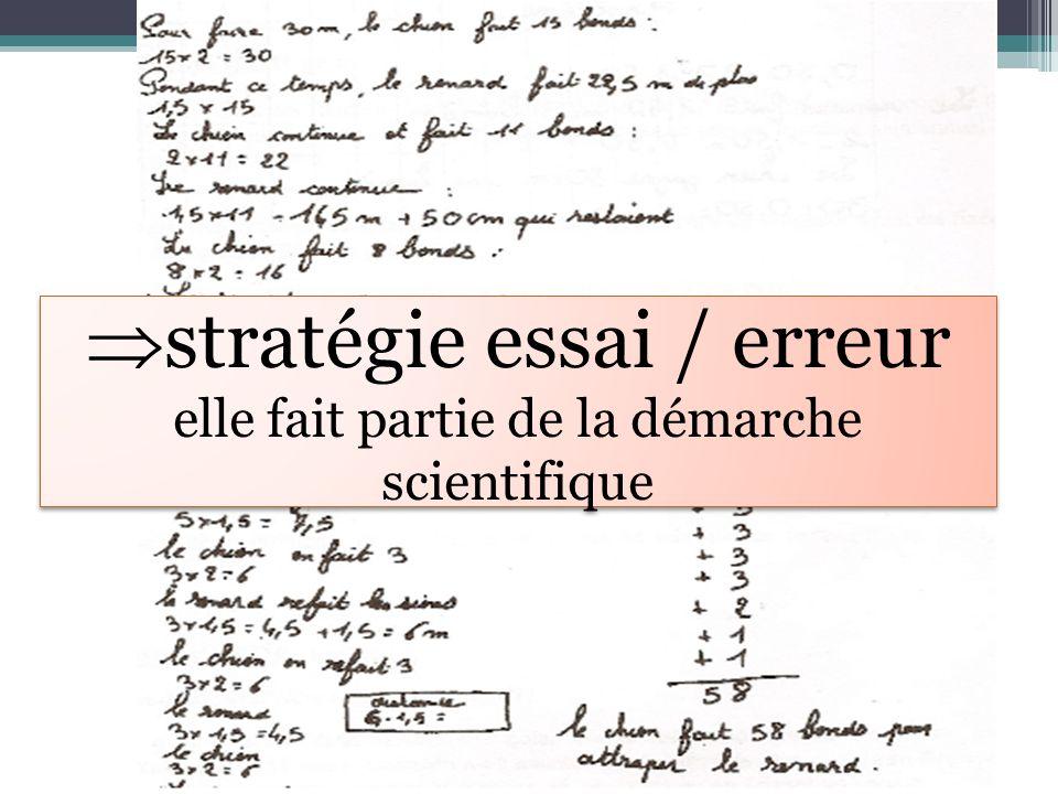 stratégie essai / erreur