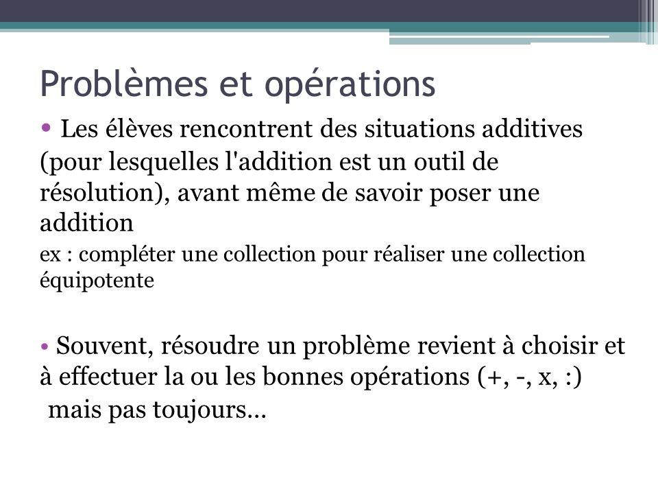 Problèmes et opérations