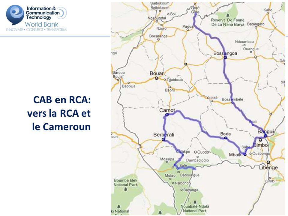 CAB en RCA: vers la RCA et le Cameroun