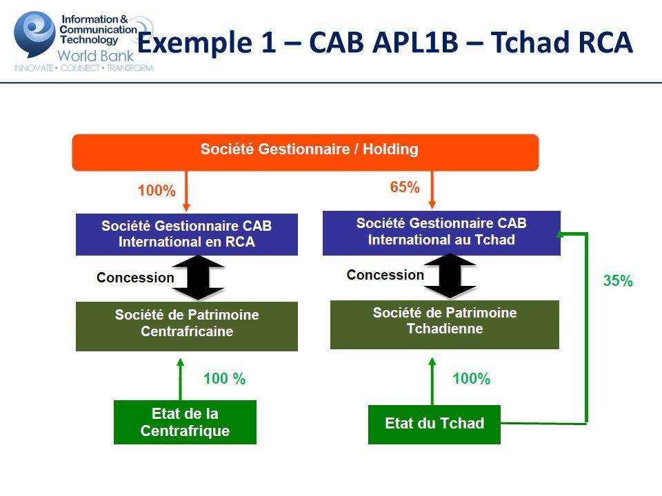 Exemple 1 – CAB APL1B – Tchad RCA