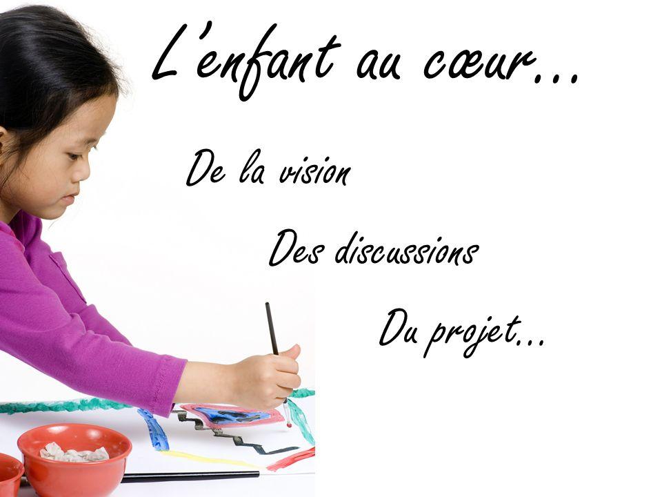 L'enfant au cœur… De la vision Des discussions Du projet…