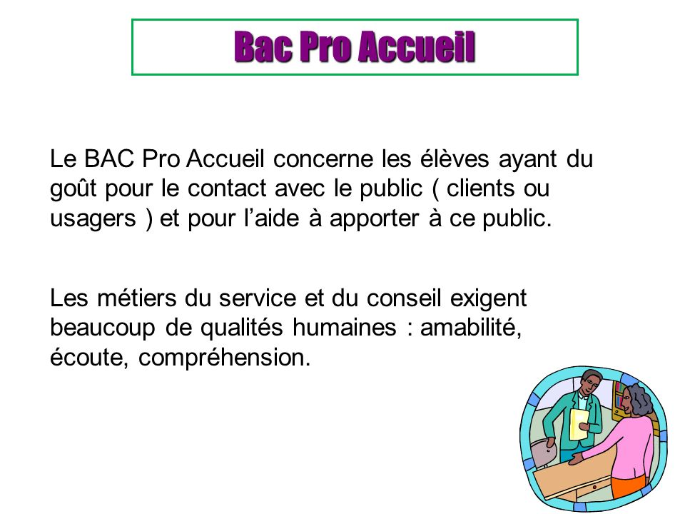 Bac Pro Accueil