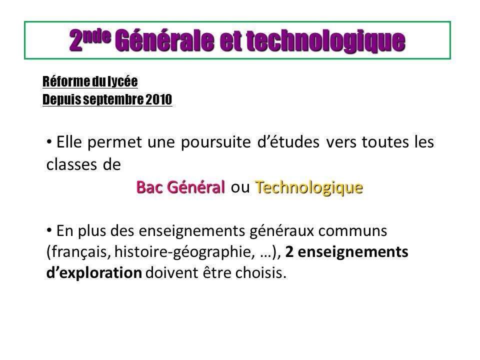 2nde Générale et technologique