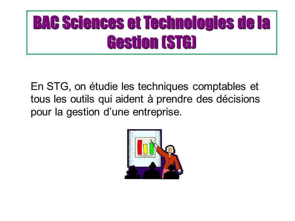 BAC Sciences et Technologies de la Gestion (STG)