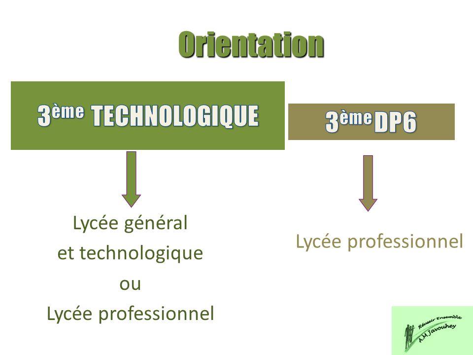 Lycée général et technologique ou Lycée professionnel