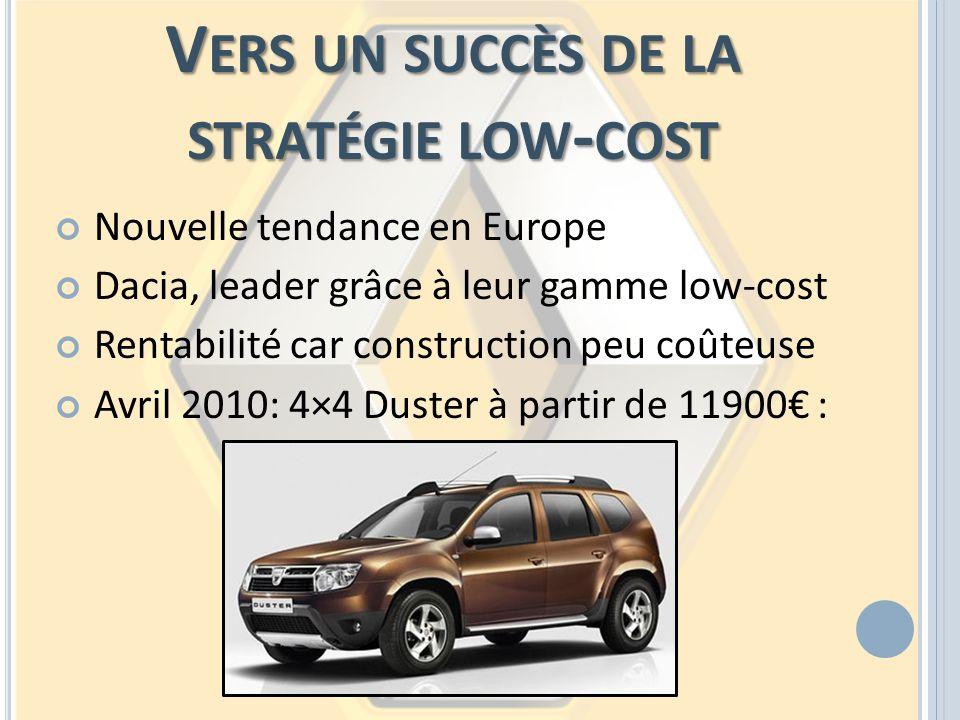 Vers un succès de la stratégie low-cost