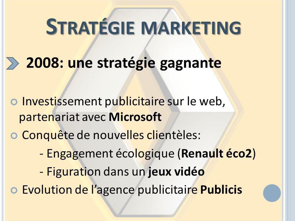 Stratégie marketing 2008: une stratégie gagnante