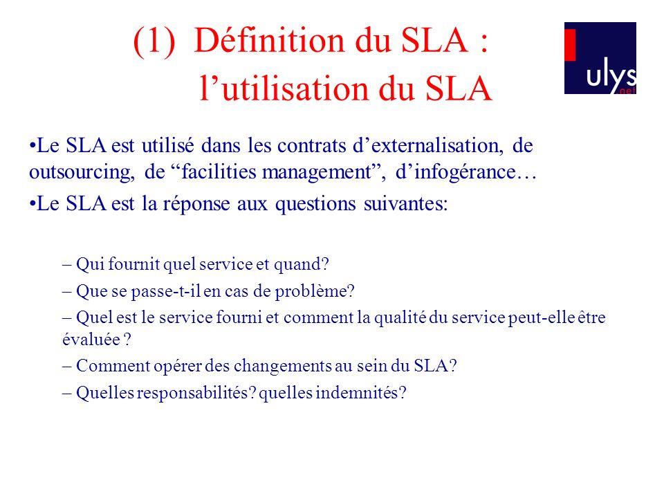 Définition du SLA : l'utilisation du SLA