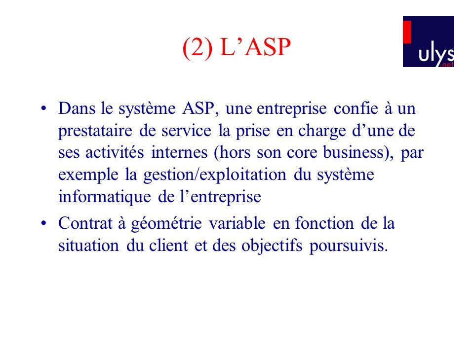 (2) L'ASP