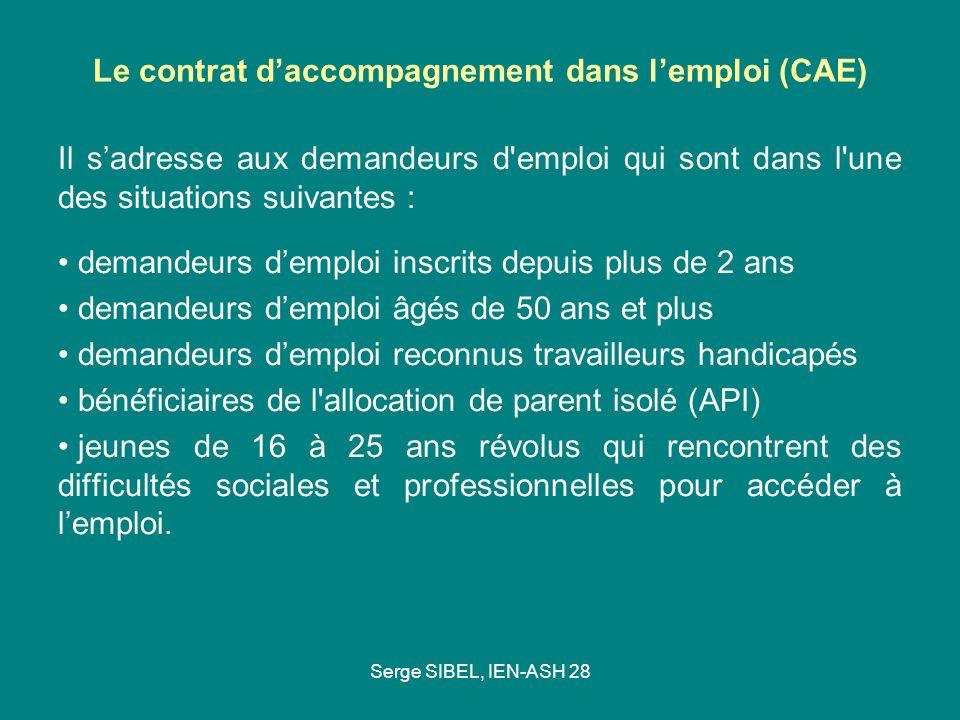 Le contrat d'accompagnement dans l'emploi (CAE)