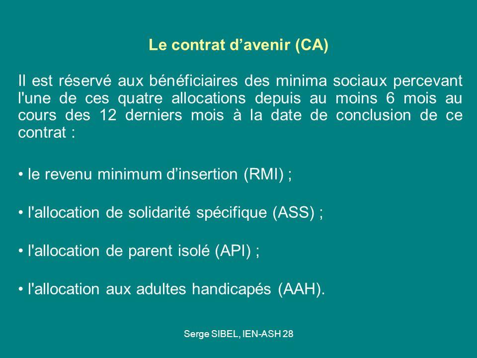 Le contrat d'avenir (CA)