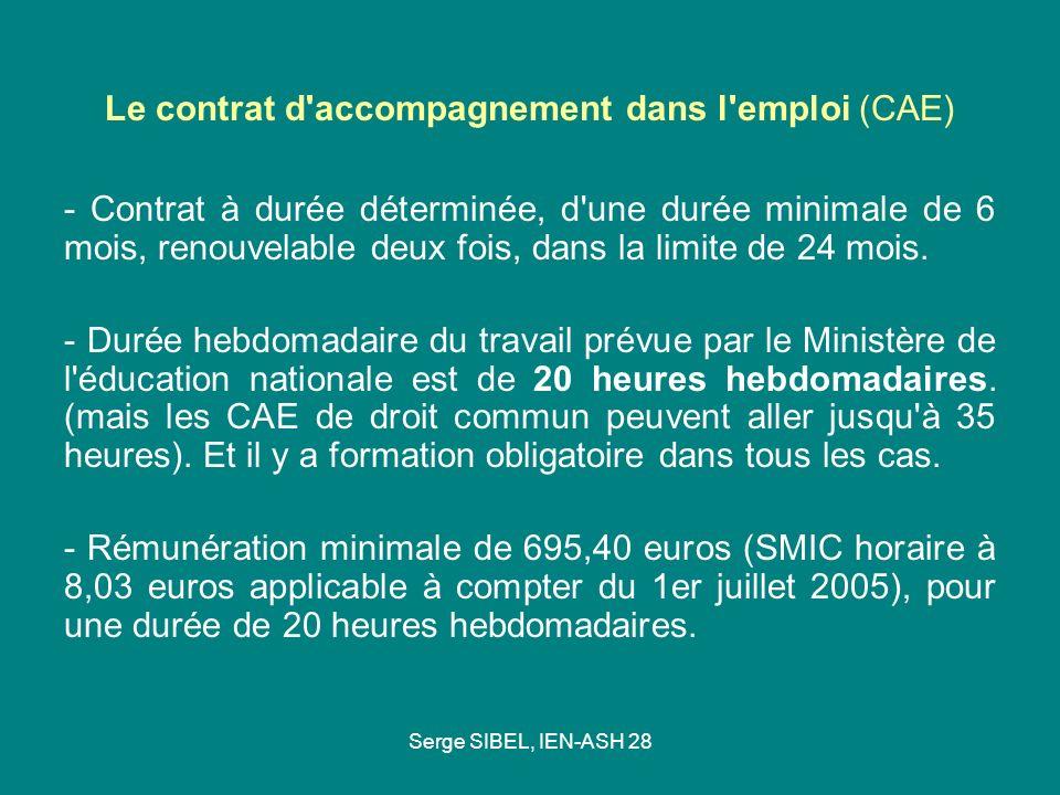 Le contrat d accompagnement dans l emploi (CAE)