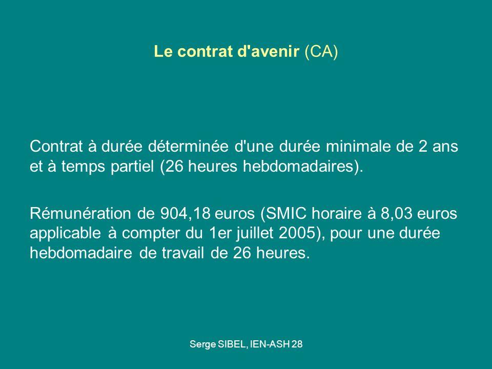 Le contrat d avenir (CA)