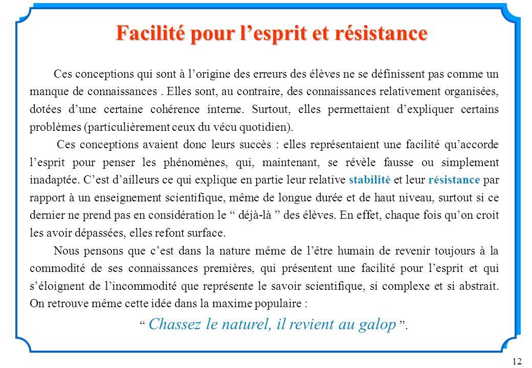 Facilité pour l'esprit et résistance