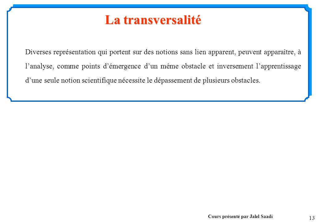 La transversalité