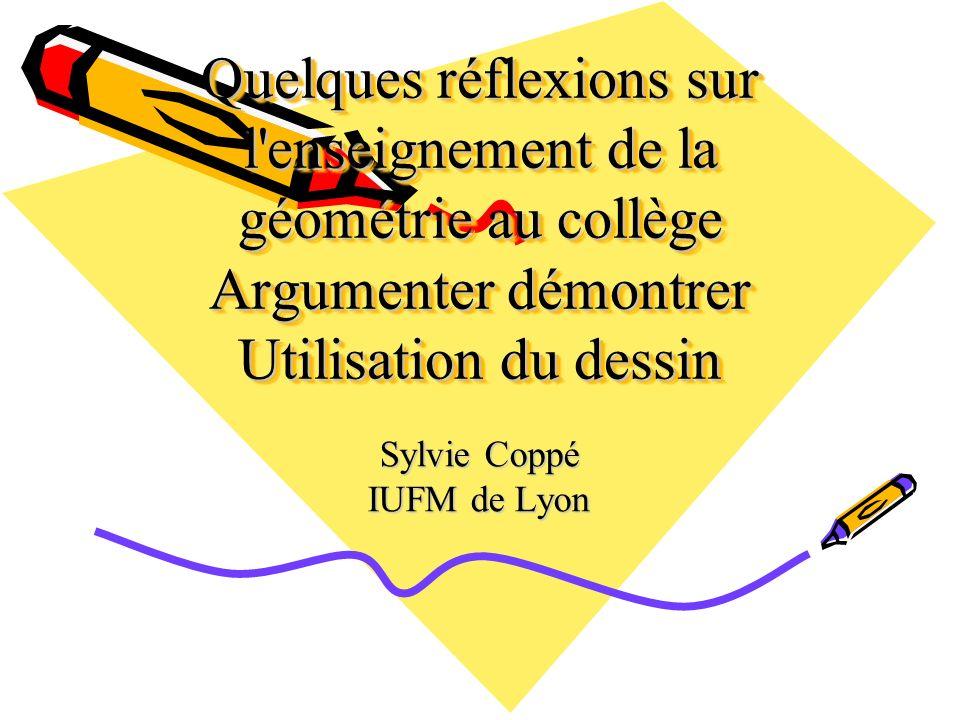 Sylvie Coppé IUFM de Lyon
