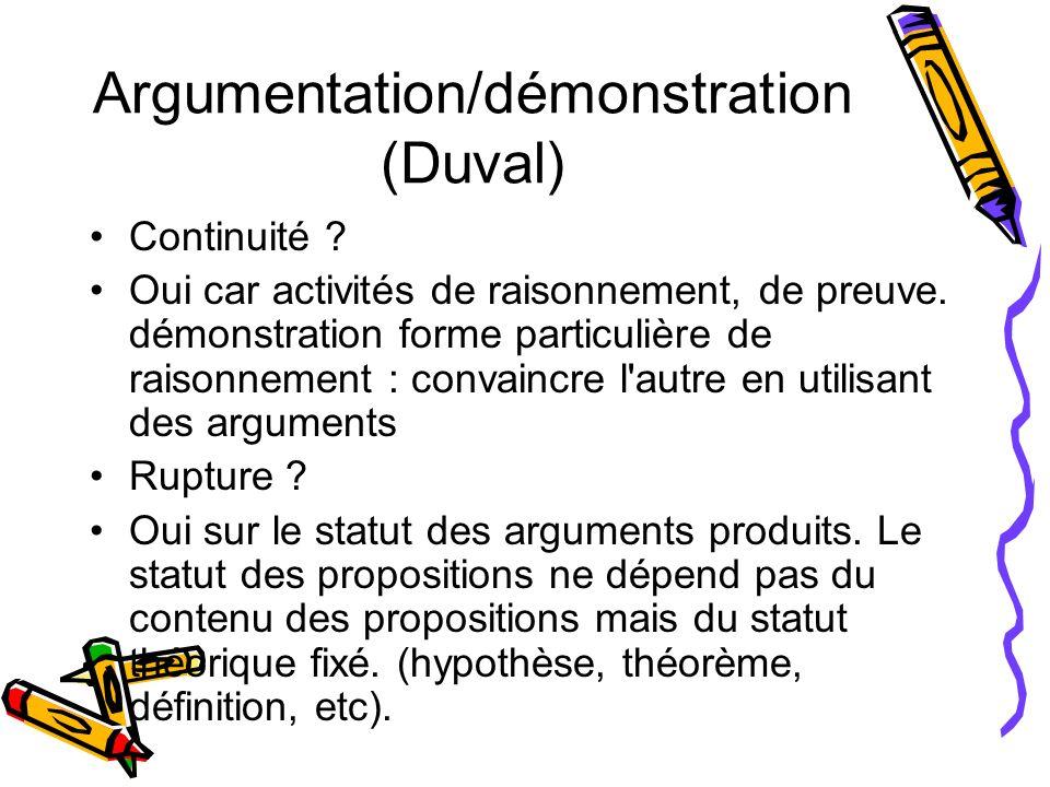 Argumentation/démonstration (Duval)