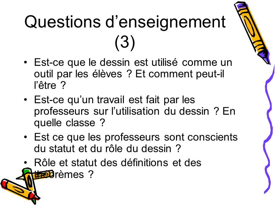 Questions d'enseignement (3)