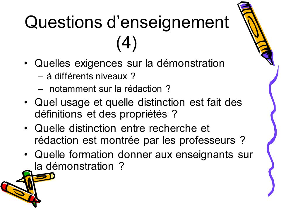 Questions d'enseignement (4)
